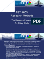 The Research Process as 8-Step Model - Research Methods Psychology)