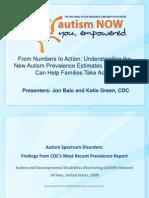 CDC Webinar with Autism NOW April 17, 2012