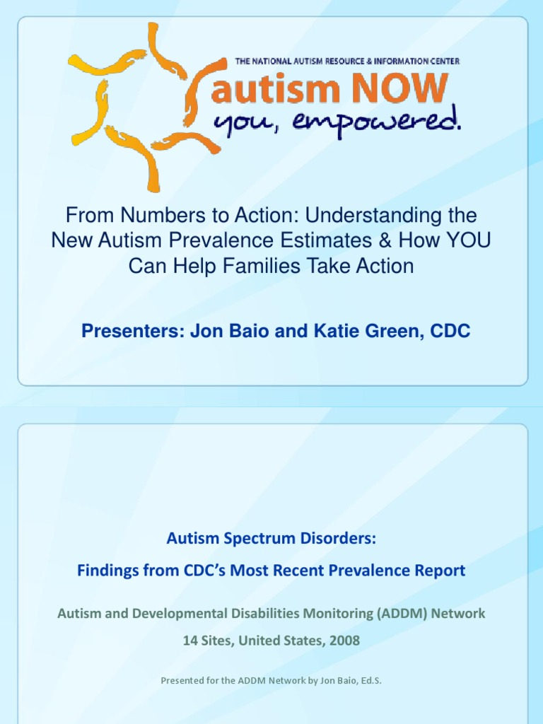 Cdc Says Developmental Disabilities Are >> Cdc Webinar With Autism Now April 17 2012 Autism Spectrum Autism