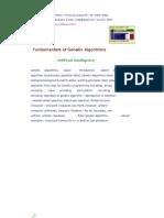 Fundamentals of Genetic Algorithm(1)