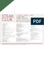 Steak Club Menu