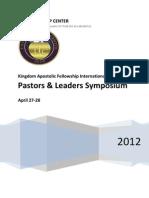 Pastors and Leaders Symposium 2012 for Bishop Davis