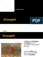 Case Study- Drought in the Sahel 2011