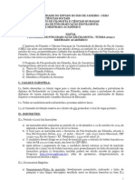 Edital Mestrado UERJ 2012