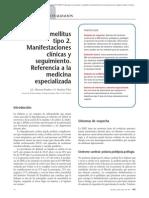 02.039 Diabetes mellitus tipo 2. Manifestaciones clínicas y seguimiento. Referencia a la medicina especializada
