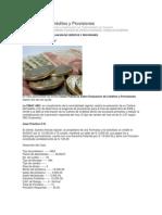 Evaluación de Créditos y Provisiones