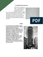 La Arquitectura en Chile