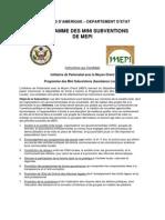 MEPI_Formulaire de Candidature