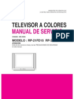 Manual de Servicio TV LG RP-21FD15 , RP-21FD15G (Chasis MC-059A)