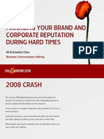 Managing Your Brand and Corporate Reputation During Hard Times (Presentation)