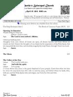 St. Martin's Episcopal Church Worship Bulletin - April 29, 8 a.m.