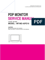 Service Manuals LG TV PLASMA MT42PZ10 MT-42PZ10 Service Manual
