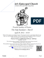 St. Martin's Episcopal Church Worship Bulletin - April 29, 10:15 a.m.