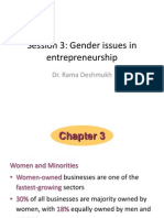 Session 3 Gender Issues in Entrepreneurship
