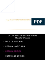 El Oficio de Historiar