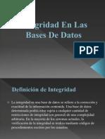 Integridad en Las Bases de Datos