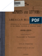 Tsanoff Reports and Letters of American Missionaries 1919