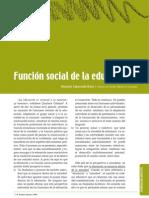 FUNCIÓN SOCIAL DE LA EDUCACIÓN