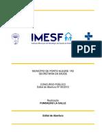Edital Imesf Porto Alegre