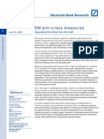 Emerging Markets Anti Crisis Measures