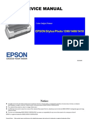 Stylus Photo1390 1400 1410 | Electric Motor | Printer