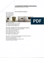 Audio Engineering Society - Seaker Build Directions