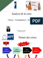 Analyse de la crise et proposition de solutions