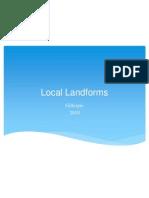 local landforms 2010