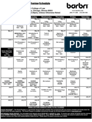 BARBRI Schedule   Government Information   Government