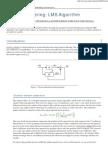 Adaptive Filtering LMS Algorithm
