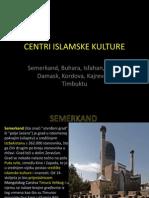 CENTRI ISLAMSKE KULTURE