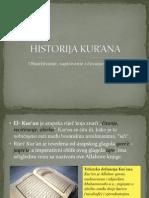 HISTORIJA KUR'ANA