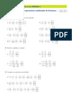 Ficha Operaciones as Fracciones