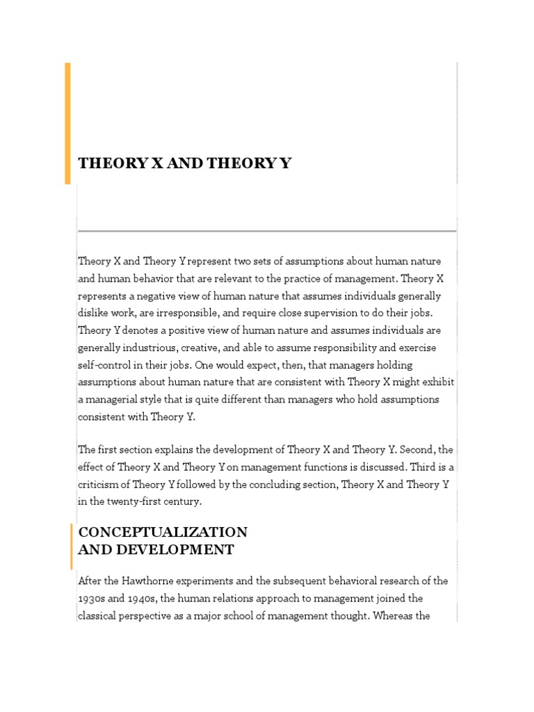 theory x research paper