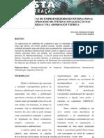 Caracteristicas do Empreendedorismo Internacional presente no Processo de Internacionalização das Empresas