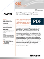 Bwin Online Gaming - SQL Server 2008 Case Study
