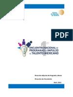 Catalogo de programas Nacionales de Impulso al Talento