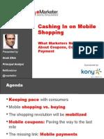Cashing in on Mobile Shopping (eMarketer)