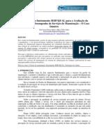 Adequação do Instrumento SERVQUAL para a Avaliação da Percepção de Desempenho de Serviços de Manutenção