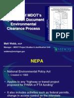 MDOT NEPA Overview