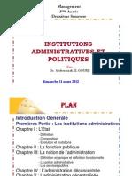 Cours Institution Administratives Et Politiques Premiere Partie