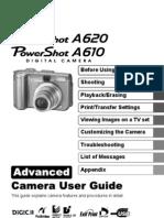 Canon PowerShot A620 A610 - Advanced Camera User Guide