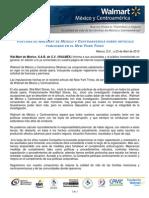 Comunicado Walt Mart Mexico