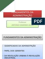 Apresentação Fundamentos Teóricos  da administração parte 1