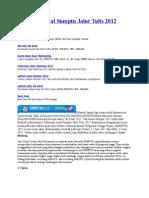 Informasi Awal Snmptn Jalur Tulis 2012