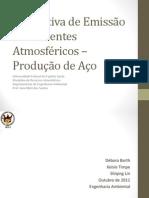Estimativa de Emissão de Poluentes Atmosféricos – Produçãodeaço