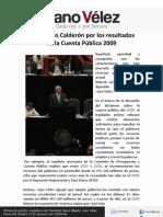 26-04-12 Reprobado Calderón por los resultados de la Cuenta Pública 2009