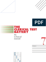 Clerical Reasoning Test Technical Manual