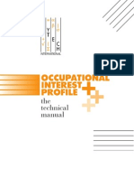 Occupational Interests Profile Plus Technical Manual