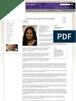 UW Distinguished Teaching Award 2010